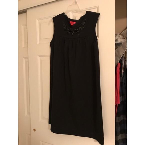 Elle Dresses & Skirts - Little black dress with stone detail at neckline